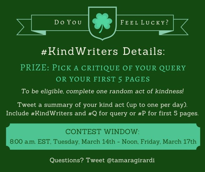 Kind Writers St. Patrick's Day